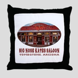Big Nose Kates Saloon Throw Pillow