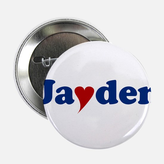 "Jayden with Heart 2.25"" Button"
