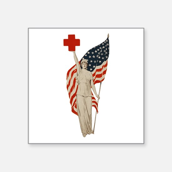 "Liberty Square Sticker 3"" x 3"""