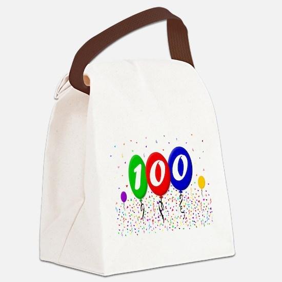 100th Birthday Canvas Lunch Bag