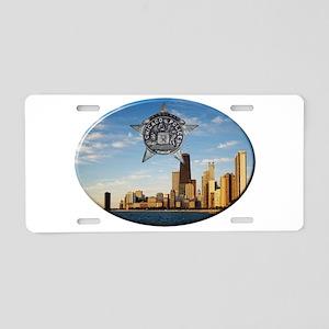 Chicago Police Skyline Aluminum License Plate