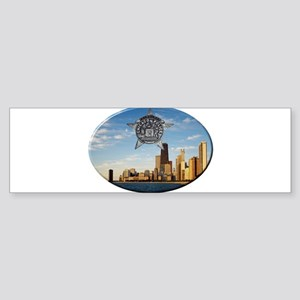 Chicago Police Skyline Bumper Sticker