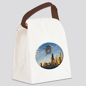 Chicago Police Skyline Canvas Lunch Bag