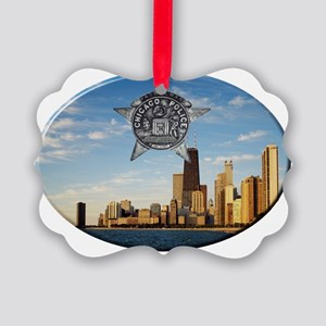 Chicago Police Skyline Ornament