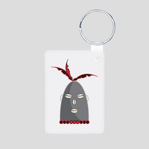 Eleggua Head Aluminum Photo Keychain