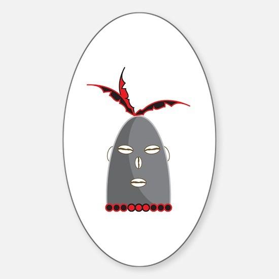 Eleggua Head Sticker (Oval)