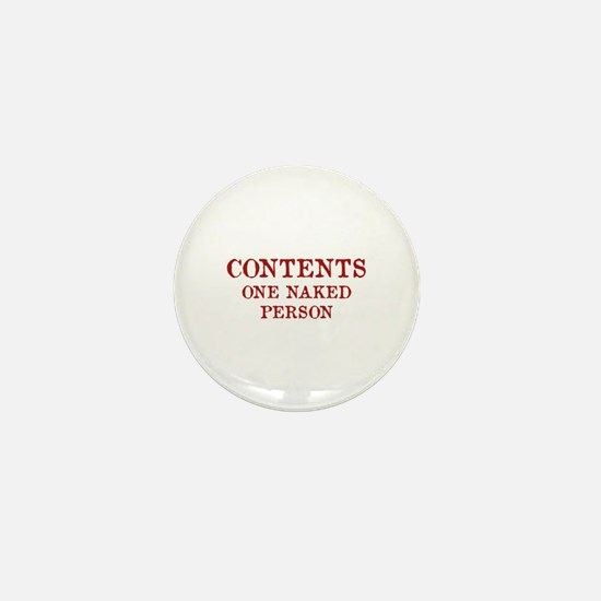 Contents One Naked Person Mini Button