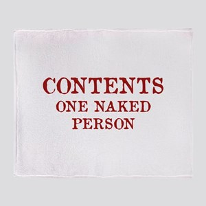 Contents One Naked Person Stadium Blanket