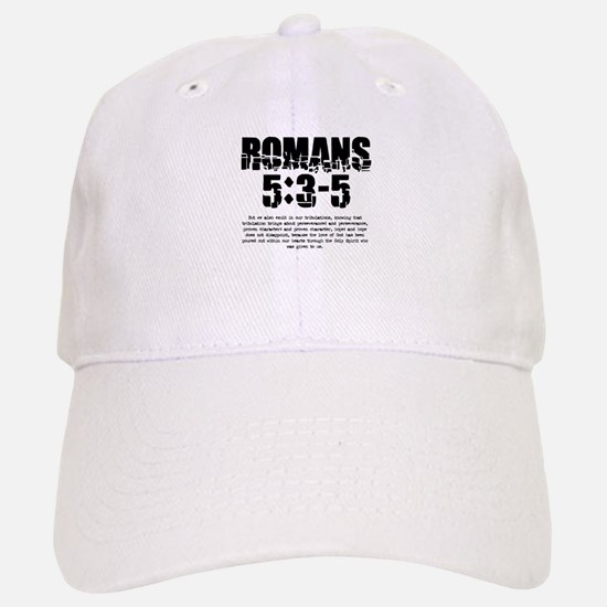 Romans 5:3-5 Baseball Baseball Cap