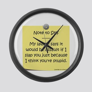Note to Self Large Wall Clock
