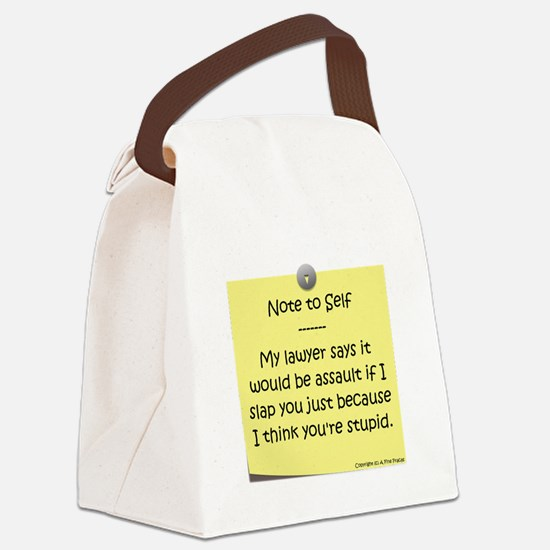 Note to Self Canvas Lunch Bag