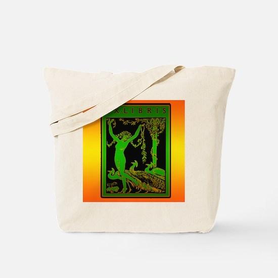 Bright Wood Nymph Ex Libris Tote Bag