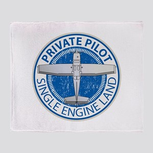 Aviation Private Pilot Throw Blanket
