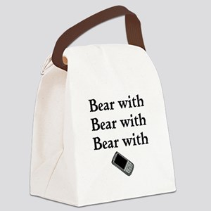Bear with Bear with Bear with Canvas Lunch Bag