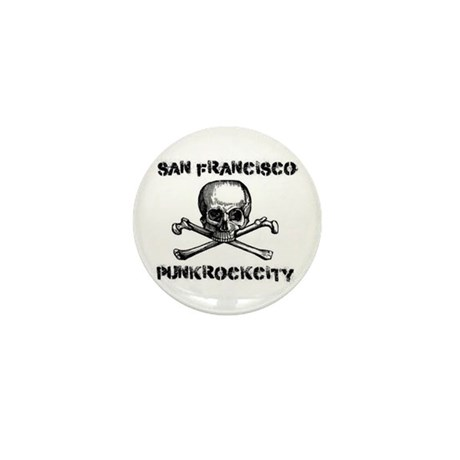 SFPunkrockcity Skull Design Mini Button (10 pack)