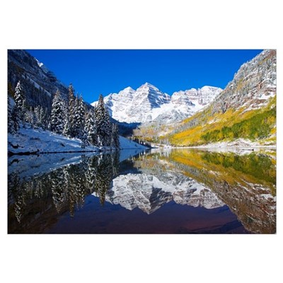 Colorado, Near Aspen, Landscape Of Maroon Lake And Canvas Art