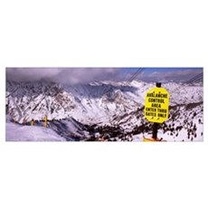 Information board in a ski resort, Snowbird Ski Re Poster
