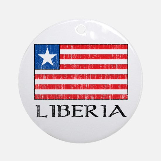 Liberia Flag Ornament (Round)