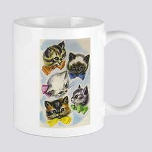 Vintage Kittens in Bow Ties Mug