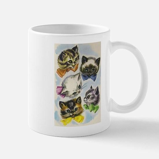 Vintage Kittens in Bow Ties Mug