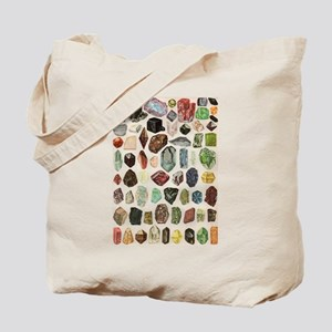 Vintage Geology Rocks Gemstones Tote Bag
