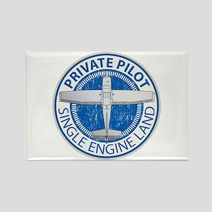 Aviation Private Pilot Rectangle Magnet
