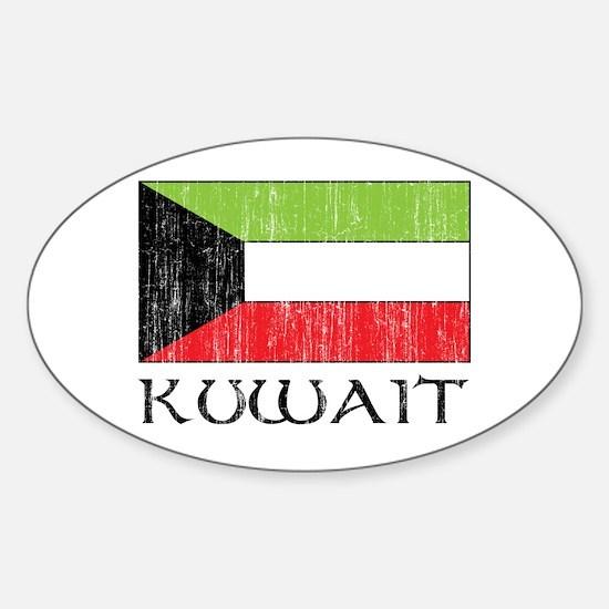 Kuwait Flag Oval Decal