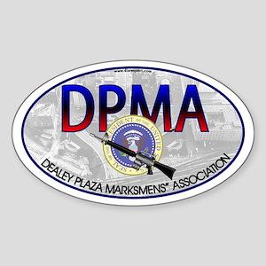 DEALEY PLAZA MARKSMENS' ASSOC. - Oval Sticker