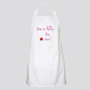 Due in March Girl BBQ Apron