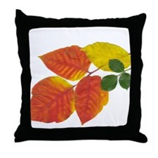 Autumn Leaves in Boston by Khoncepts Throw Pillow