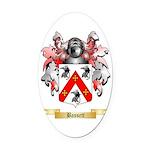 Bassett Oval Car Magnet