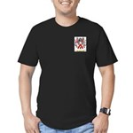 Basset Men's Fitted T-Shirt (dark)