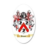 Basset 35x21 Oval Wall Decal