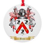Bass Round Ornament