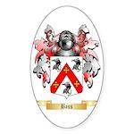Bass Sticker (Oval 10 pk)