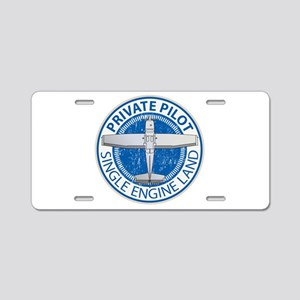 Aviation Private Pilot Aluminum License Plate