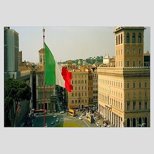Italian flag, Piazza Venezia, Vittorio Emmanuel II