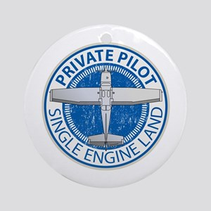 Aviation Private Pilot Ornament (Round)