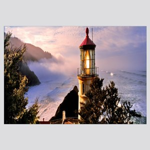 Lighthouse at a coast, Heceta Head Lighthouse, Hec