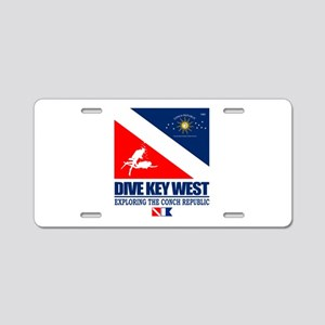 Dive Key West Aluminum License Plate