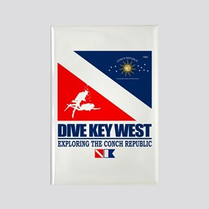 Dive Key West Rectangle Magnet