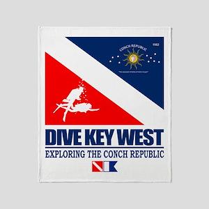 Dive Key West Throw Blanket