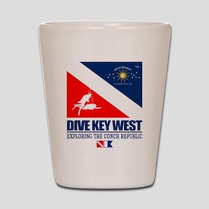 Dive Key West Shot Glass