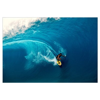 Man surfing in the sea Canvas Art