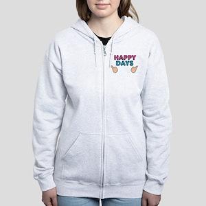 'Happy Days' Women's Zip Hoodie
