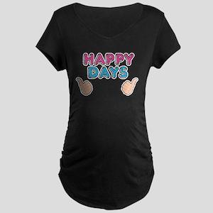 'Happy Days' Maternity Dark T-Shirt