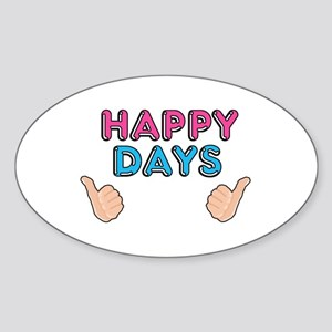 'Happy Days' Sticker (Oval)