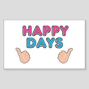 'Happy Days' Sticker (Rectangle)