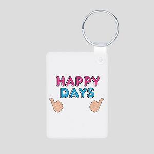 'Happy Days' Aluminum Photo Keychain
