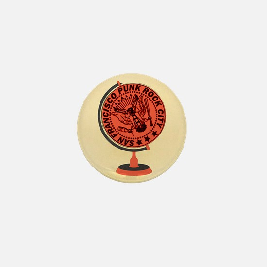 Punk Globe Mini Button
